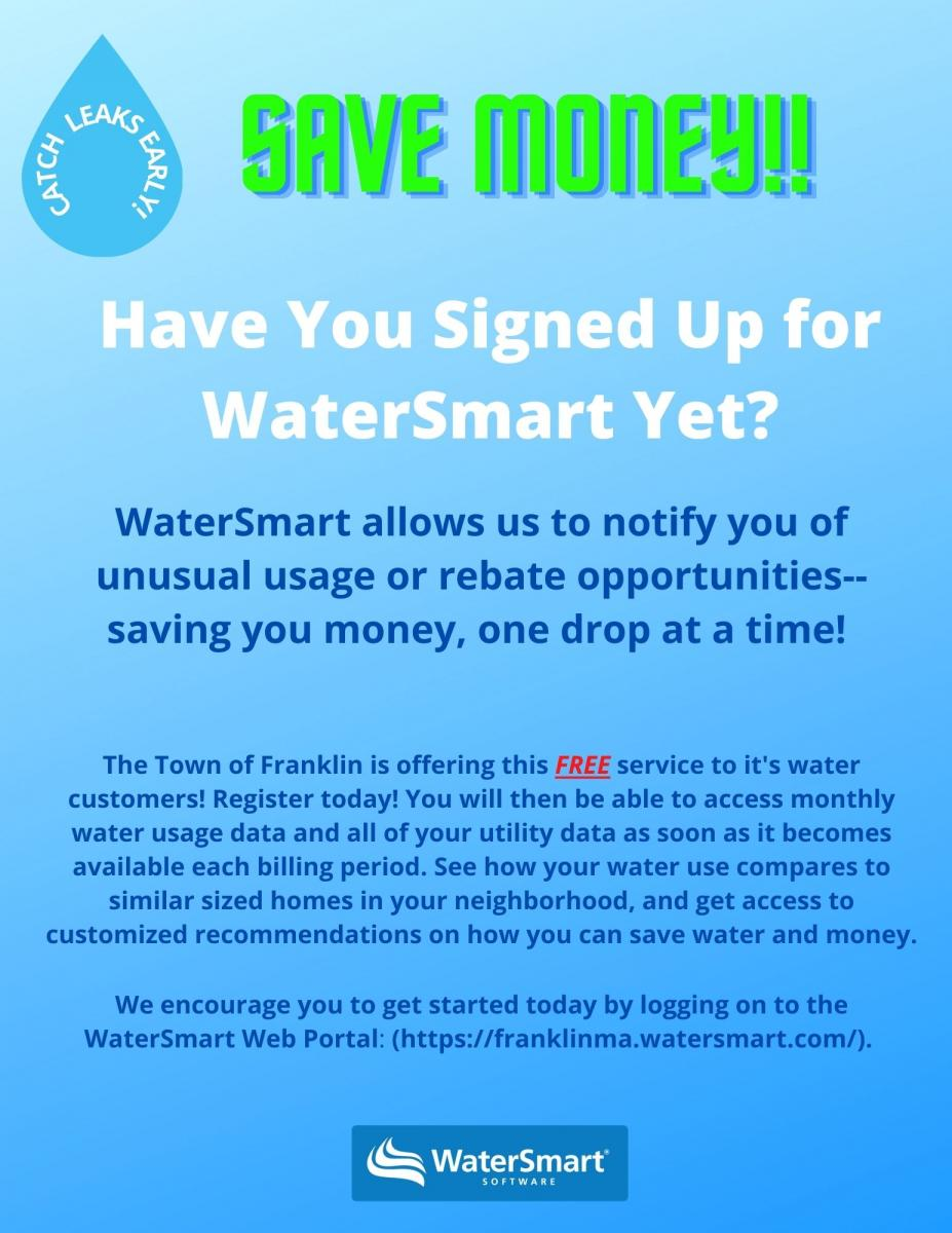 Sign Up for WaterSmart!