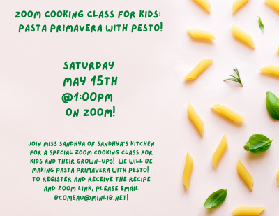 Zoom Cooking Class for Kids