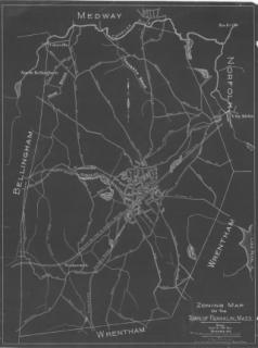 1928 Zoning Map of Franklin