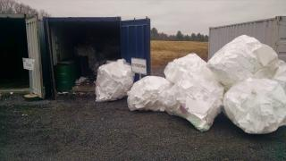 Styrofoam Recycling at the Recycling Center