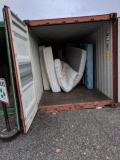 Mattresses at the Recycling Center