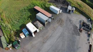 Aerial View of the Franklin Recycling Center