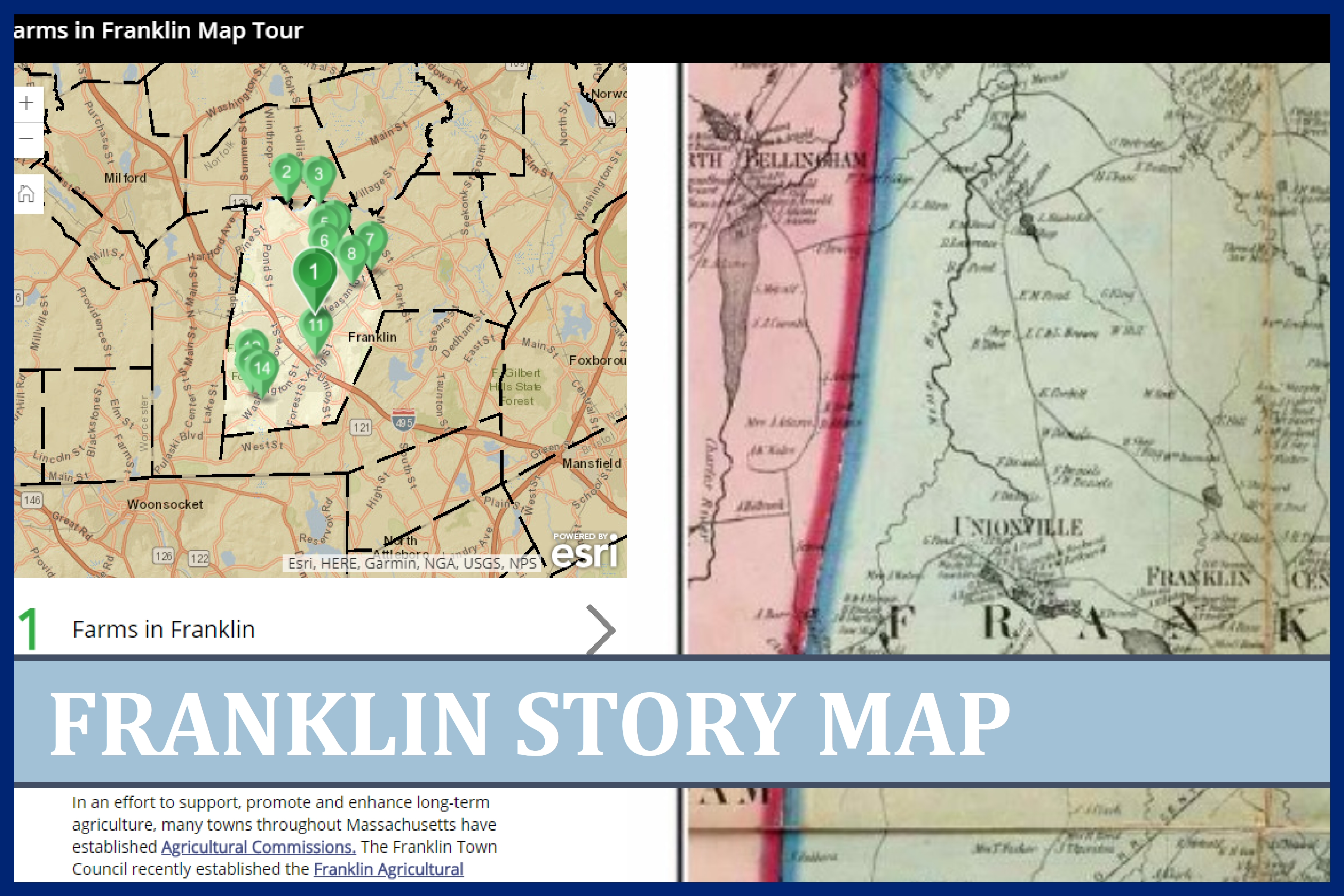 Farms in Franklin story map image